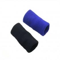 10PCS Sports Elastic Finger Sleeve Protector Brace Support - Black&Blue
