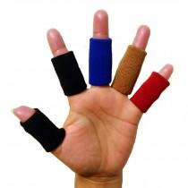 5PCS Sports Elastic Finger Sleeve Protector Brace Support - Beige+Blue+Red+Black