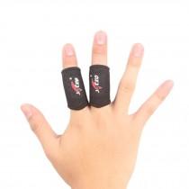 Set of 2 Elastic Finger Sleeve Protector Brace Support for Sports - Black
