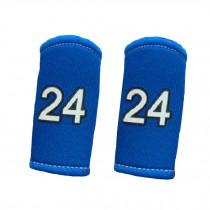 2PCS Premium Finger Sleeve Protector Brace Support for Basketball, KB24, Blue