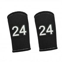 2PCS Premium Finger Sleeve Protector Brace Support for Basketball, KB24, Black