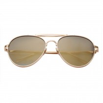 Color Film Reflective large frame sunglasses For Ourdoor  Champagne