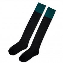 Over Knee Beautiful Stockings Grils Fashion black/green High Socks
