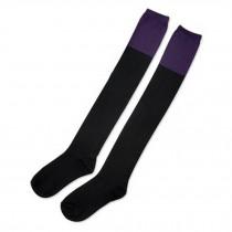 High Socks Fashion Grils Over Knee Beautiful black/purple Stockings