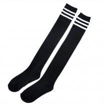 Beautiful Fashion Women Over Knee Triple High Socks Stripe Stockings