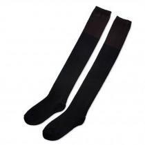 Pretty Stockings Ladies Beautiful black/brown Over Knee High Socks
