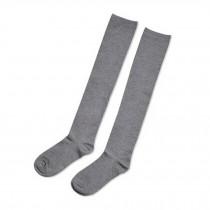 Gray Stockings Girls Fashion Pretty Over Knee High Socks