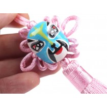 2 Pieces Of Creative Car Ornaments Chinese Knot Pendant, Pink(Random Color)