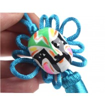 2 Pieces Of Creative Car Ornaments Chinese Knot Pendant, Blue