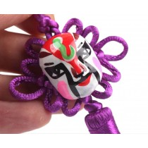 2 Pieces Of Creative Car Ornaments Chinese Knot Pendant, Purple