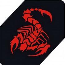 "Scorpion Car Decals Car Sticker Cool Stickers Car Window Sticker RED (5.9"")"