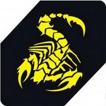 "Scorpion Car Decals Car Sticker Cool Stickers Car Window Sticker YELLOW (5.9"")"