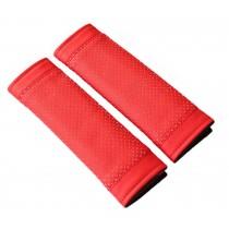 Red Car Seat Belt Shoulder Pad Sets Lengthen Belt Sleeve Automotive Supplies
