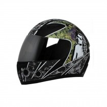 "Matte Black Motorcycle Street Bike Full Face Helmet (XL, 22 4/5"" - 23 3/5"")"