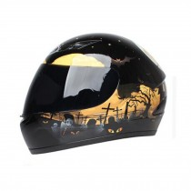"Cool Gloss Black Motorcycle Street Bike Full Face Helmet (XL, 22 4/5"" - 23 3/5"")"