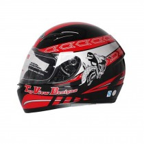 "Cool Speed Motorcycle Helmet Street Bike Full Face Helmet (Black/Red,XL,23""-24"")"