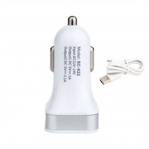 Dual USB Car Charger Designed for Apple/Android Devices(Included Android Cable)