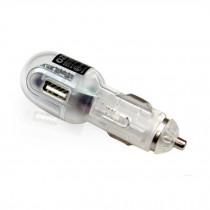 Car Cigarette Lighter Ports - USB Car Charger ( Cable Not Included),Transparent