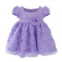 Beautiful Children Dress Lovely Girl Party Dress Princess Style Purple