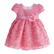 Beautiful Children Dress Lovely Girl Party Dress Princess Style Fushcia