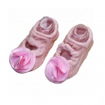 [C]Pink Color Beautiful Flower Baby Socks for Baby Girls, 2 Pairs