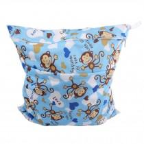 """Monkey Wet Bags Waterproof Diaper Bag Multi-function Nappy Bag -14""""*11"""" Blue"""