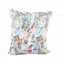 """Cake Candy Wet Bags Waterproof Diaper Bag Multi-function Nappy Bag -14""""*11""""White"""