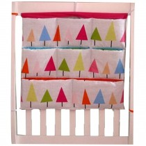 Colorful Tree Pattern Baby Bedside Multilayer Pouch Diaper Bag Storage Bag