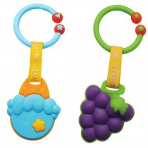 GRAPE&ORANGE Baby Toddler Relieving Teether Newborn Infant Training Soft Teeting