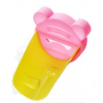 Colorful Water Faucet Extender Extending Faucet Hand Pink&Yellow