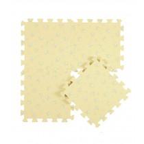 Interlocking Foam Mats EVA Foam Floor Mats (Denticle & 9 Tiles) Yellow Flowers