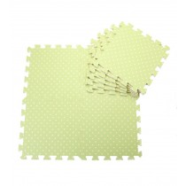 Interlocking Foam Mats EVA Foam Floor Mats (Denticle & 9 Tiles) Green Dot