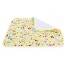 Toddler Waterproof Washable Diaper Changing Mat Pad(Yellow Bear)-50*70cm