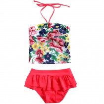 Cute Baby Girls Beach Suit Lovely Colorful Swimsuit 1-2 Years Old(80-90cm)