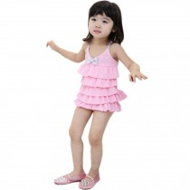 Cute Baby Girls Beach Suit Lovely Dress Design Swimsuit 1-2 Years Old(80-90cm)