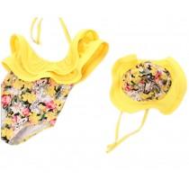 Girls Swimwear One Piece Swimsuits Yellow