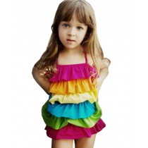 Beautiful Baby Girl Swimsuit Lovely Siamesed High Quality Swimsuit Multicolor