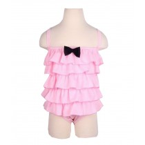 Beautiful Baby Girl Swimsuit Lovely Siamesed High Quality Swimsuit Pink 2~3Y