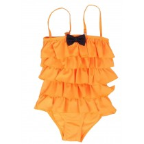 Beautiful Baby Girl Swimsuit Lovely Siamesed High Quality Swimsuit Orange 2~3Y