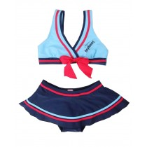 Beautiful Baby Girl Swimsuit Lovely Bikini Toddler Swimsuit Blue (1~3Y)