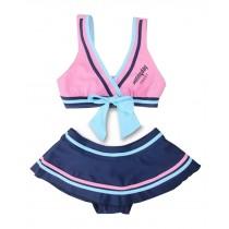 Beautiful Baby Girl Swimsuit Lovely Bikini Toddler Swimsuit Pink & Blue (1~3Y)