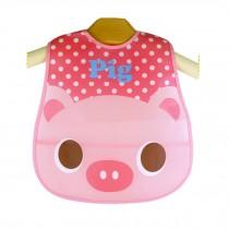 Cute Cartoon Pig Pattern Baby Waterproof Bib (Pink)