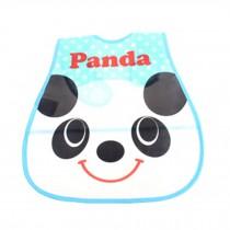 Lovely Smile Panda Adjustable Waterproof PVC Baby Bib Pocket Protect Bib 45*28CM
