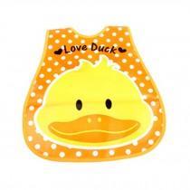 Lovely Smile Duck Adjustable Waterproof PVC Baby Bib Pocket Protect Bib 45*28CM
