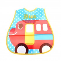 Lovely Cool Car Adjustable Waterproof PVC Baby Bib Pocket Protect Bib 45*28CM