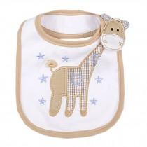 "Lovely Giraffe Animal Cotton/PVC Adjustable Waterproof Baby Bib Pocket Bib 6*12"""