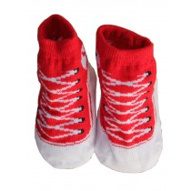 Toddler Non-Slip Infant Socks /Baby Stockings/ Newborn Infant Shoes Red
