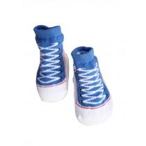Toddler Non-Slip Infant Socks /Baby Stockings/ Newborn Infant Shoes Blue