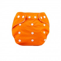 Baby One Size Leak-free Diaper Cover With Snap Closure (3-13KG,Orange)
