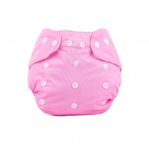 Baby One Size Leak-free Diaper Cover With Snap Closure (3-13KG,Pink)